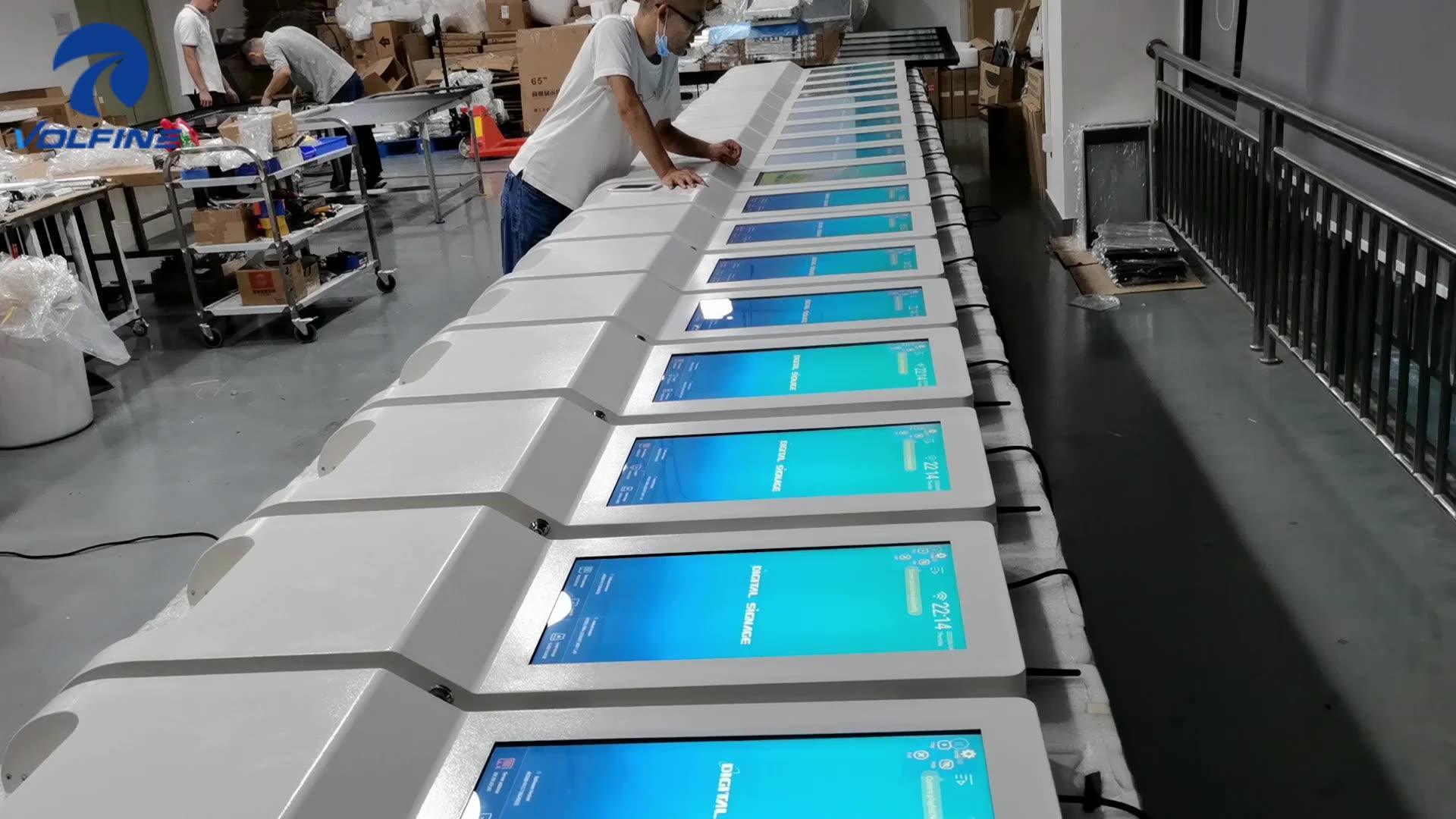 21.5 インチ自動 1000/3000 ミリリットルゲルアルコール泡消毒機キオスク赤外線電子自動ハンド消毒ディスペンサー