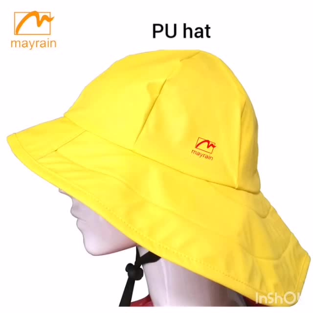 yellow rain hat for kids