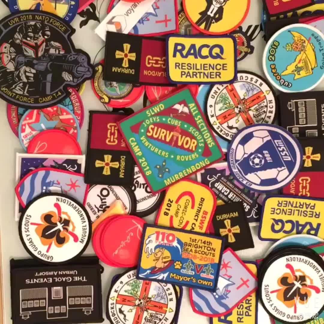 Custom Brand Logo Fabric Woven Patch For School Uniforms