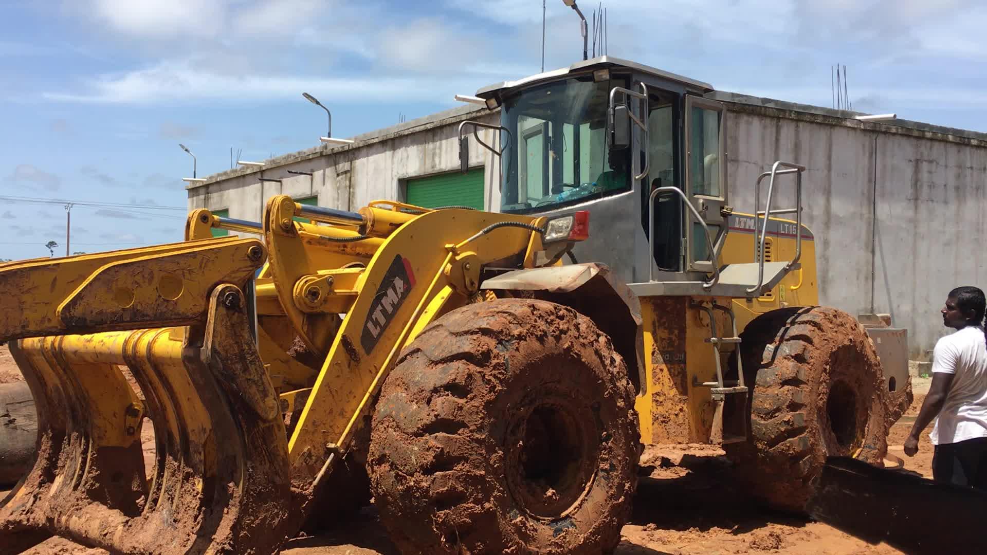 Verkauf von LTMG log greifer radlader 15 ton atv loader