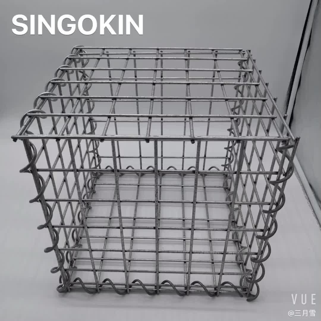 Chine hebei solide galvanisé soudé gabion paniers en pierre de gabion mur de clôture fil cages mur de soutènement pour la décoration de jardin