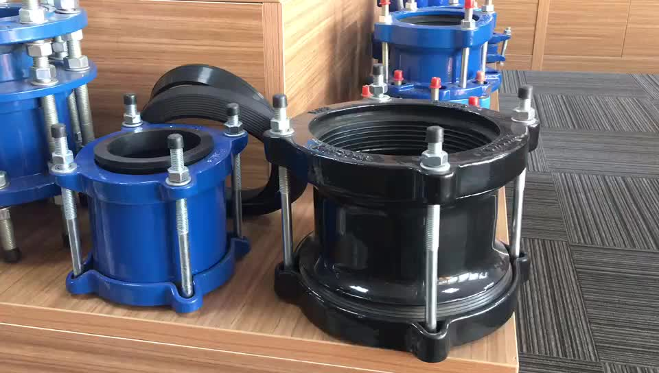 Repair PVC PE Pipe Gibault Joint for Spain with O Ring and Flat Gasket