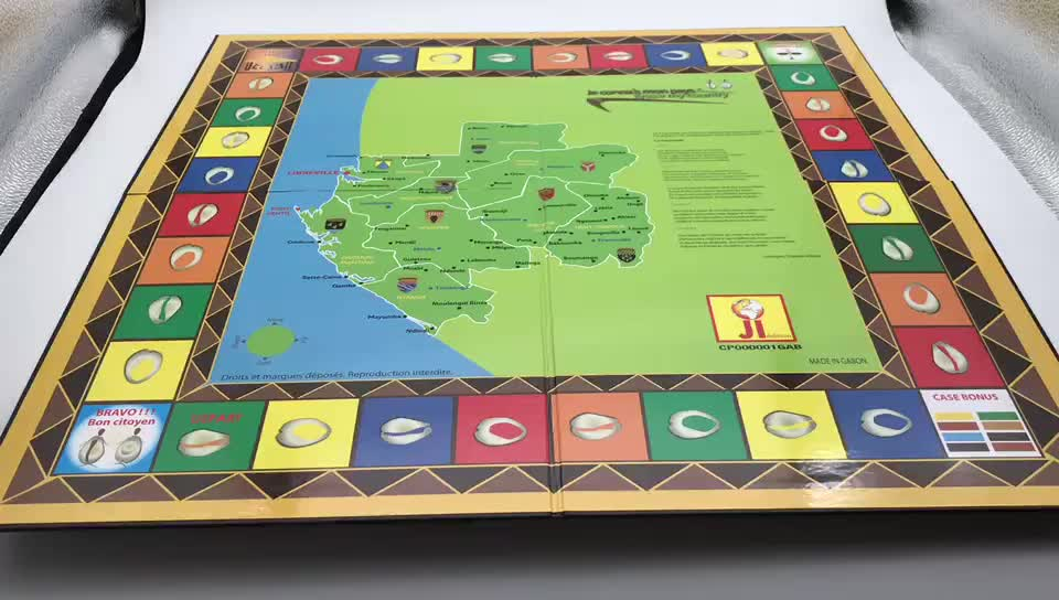 Manufacture custom family fun tabletop board games playing educational cardboard games