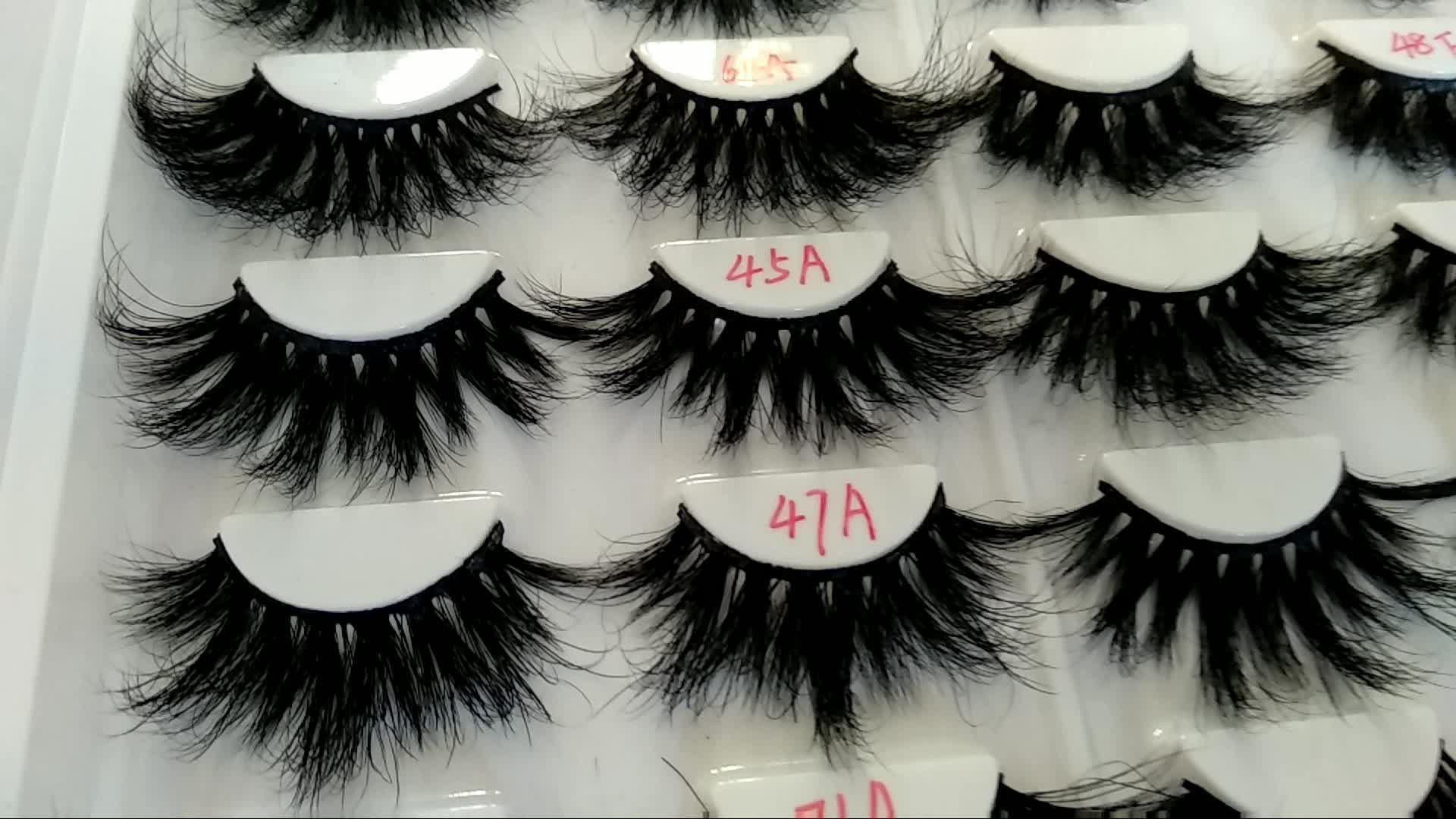 Private label custom package Luxury 3D mink lashes premium mink lashes