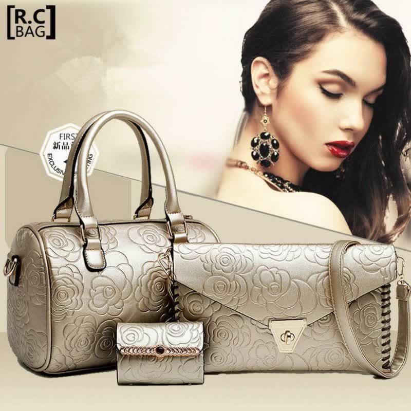 Donne 3 set borse ultima moda donna bag borse borse