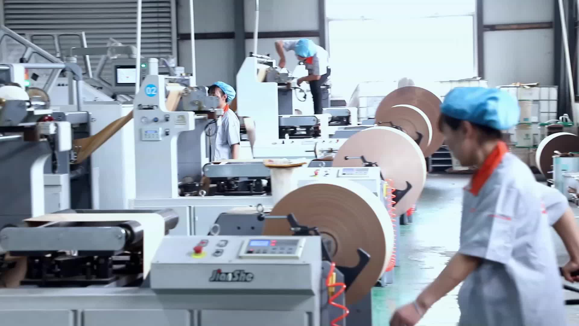 Logo personalizzato stampato kraft sacchetto del pane di carta senza manico