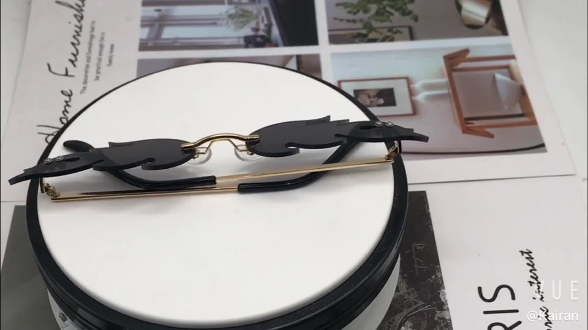 New fashion model fire flame sunglasses unisex personal sun glasses 2020