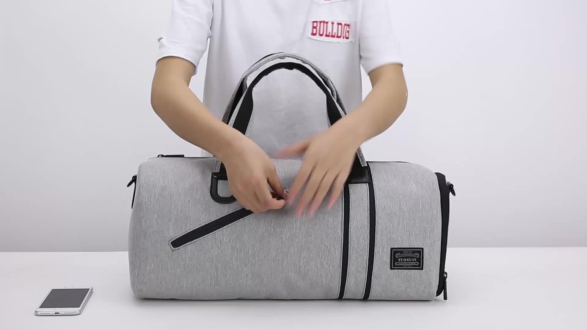 Toptan en iyi küçük spor çantası logo ile özelleştirilmiş spor çanta
