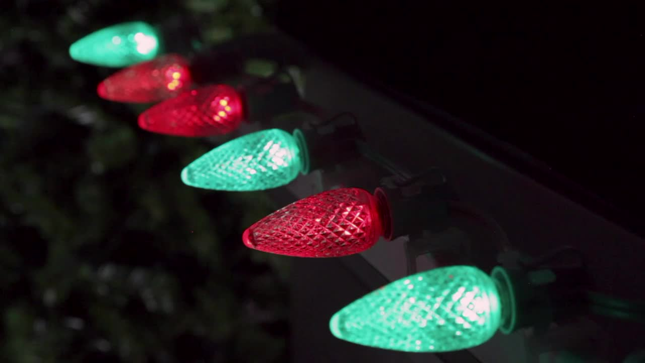Twinkle color changing  c9 led  luces de navidad screw in bulbs