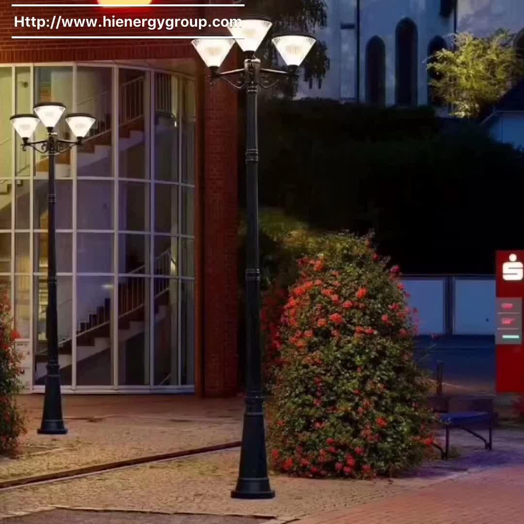 Premium quality modern design outdoor solar led garden post lights
