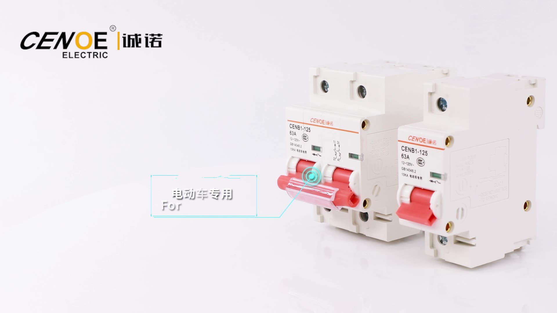 CENB1-125 2P DC 12V 80A Free Sample  Electric Miniature circuit breaker for EV double pole 80 amp MCB good quality diajuntor ACB