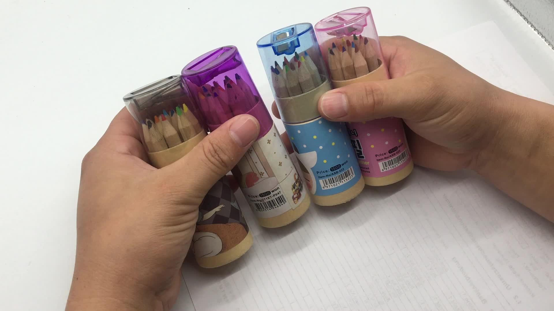 Dễ thương bút chì màu thiết lập cho trẻ em 12 pcs
