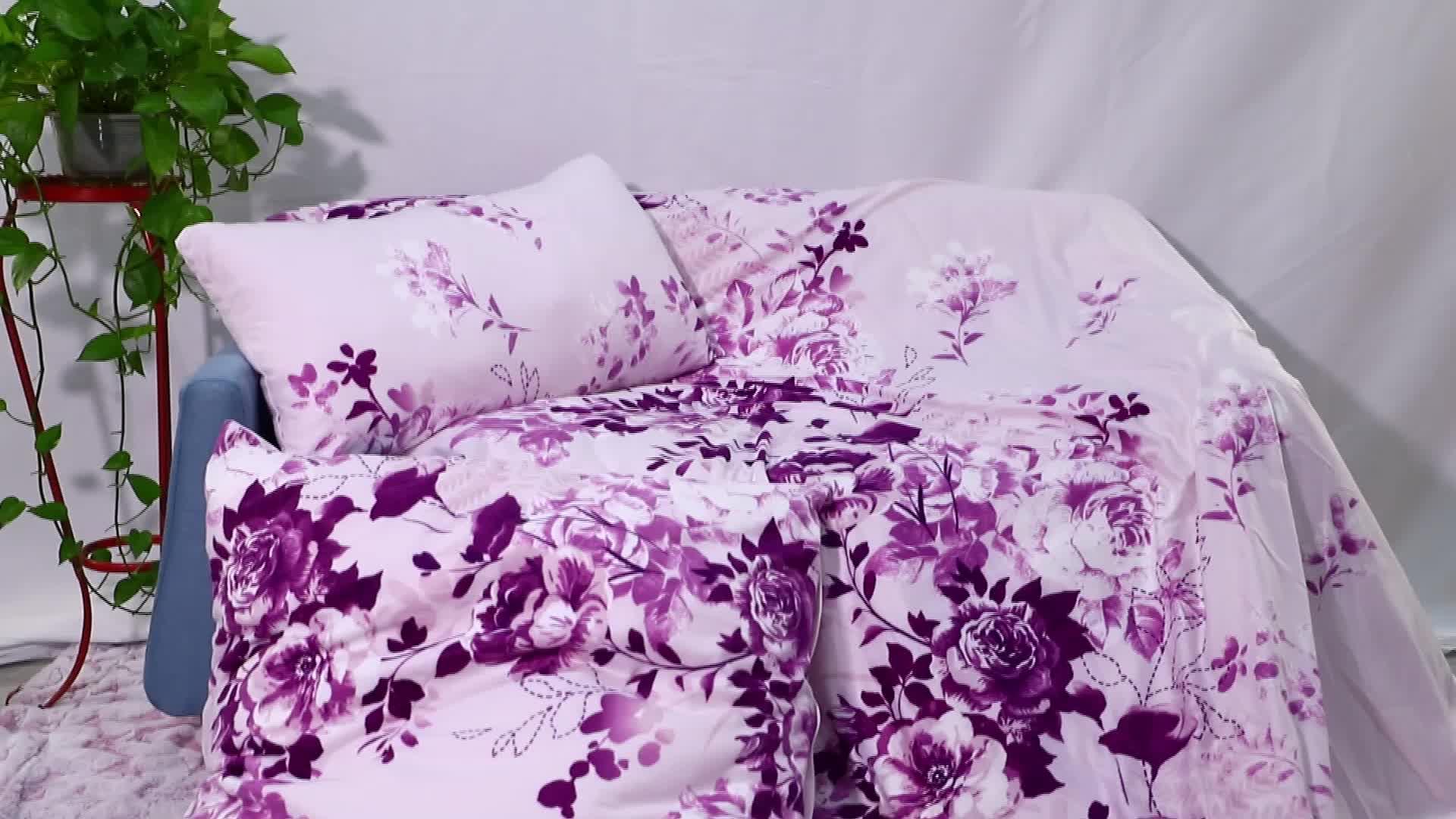 Impresión personalizada bebé bordado fantasía hoja de cama y almohada caso ropa de cama duvet cubierta de edredón