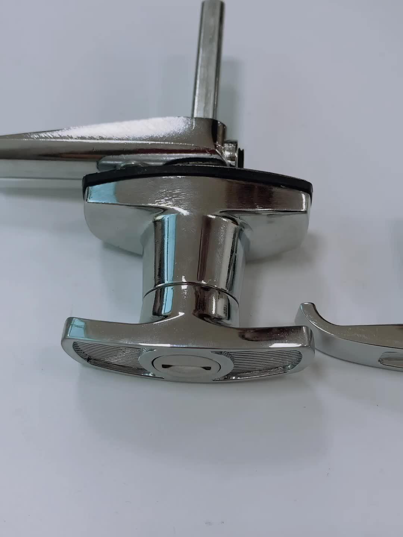 Bright chrome zinc alloy swing handle  t-handle lock compression lock garage door lock