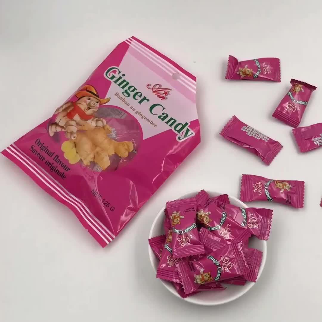 Contenitore di caramella di zucchero sano basso prezzo all'ingrosso zenzero della caramella