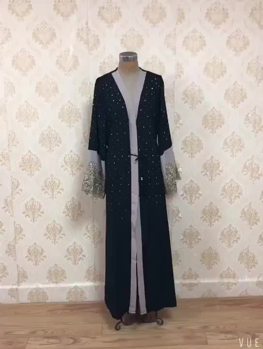 Muslim Abaya Dubai Long Sleeve Muslim Open Abayas for Women Islamic Dress Islam Women Clothing