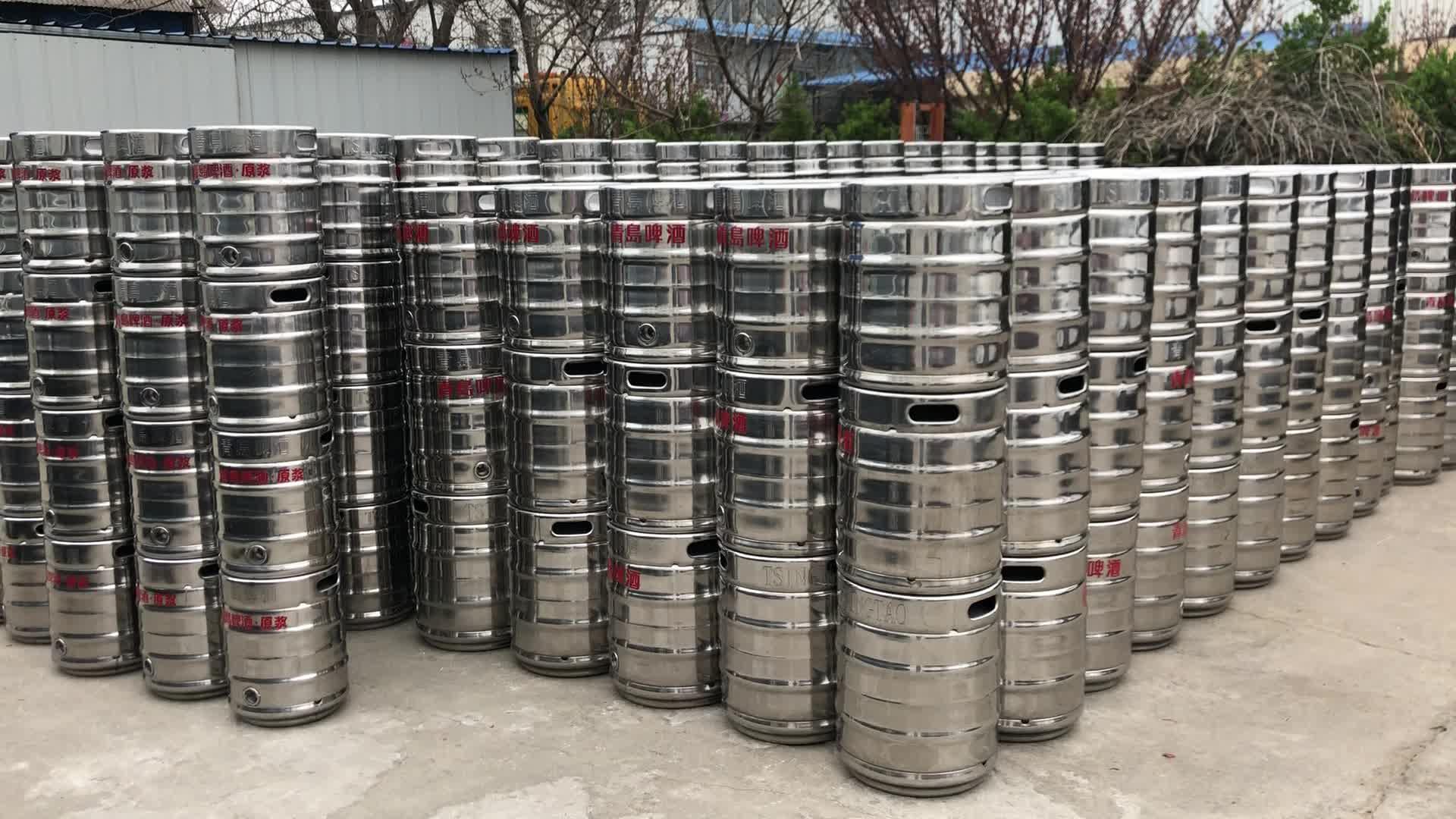 20L Grote Double Layer Spiegel Gepolijst Roestvrij Stalen Geïsoleerde Biervat Ambachtelijke Bier Vat voor Verkoop