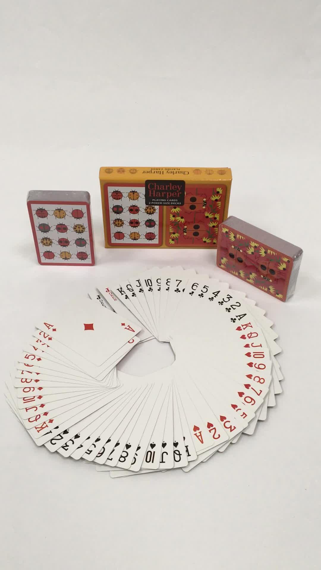 premium paper playing card sets OEM manufacturer