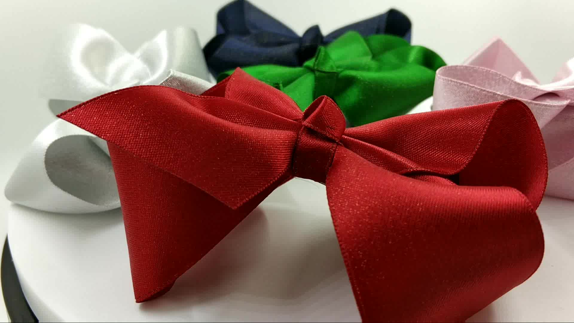 Beauty 4 Inch Exquisite Gift Gold lined Hair Bows