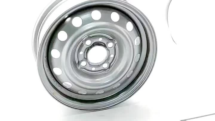 Wheelsky ET1345406-S 13 inch 13x4.5 4x100 600kg load capacity silver steel trailer wheel