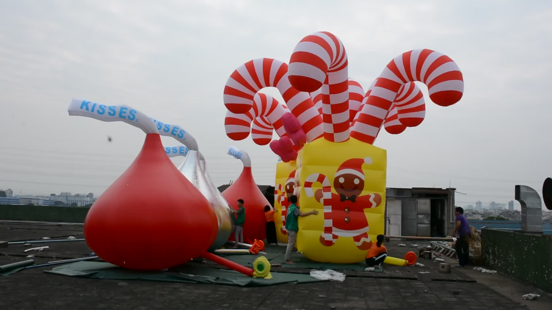Wholesale Inflatable Candy Gift Custom Inflatable Christmas Decorations For Party