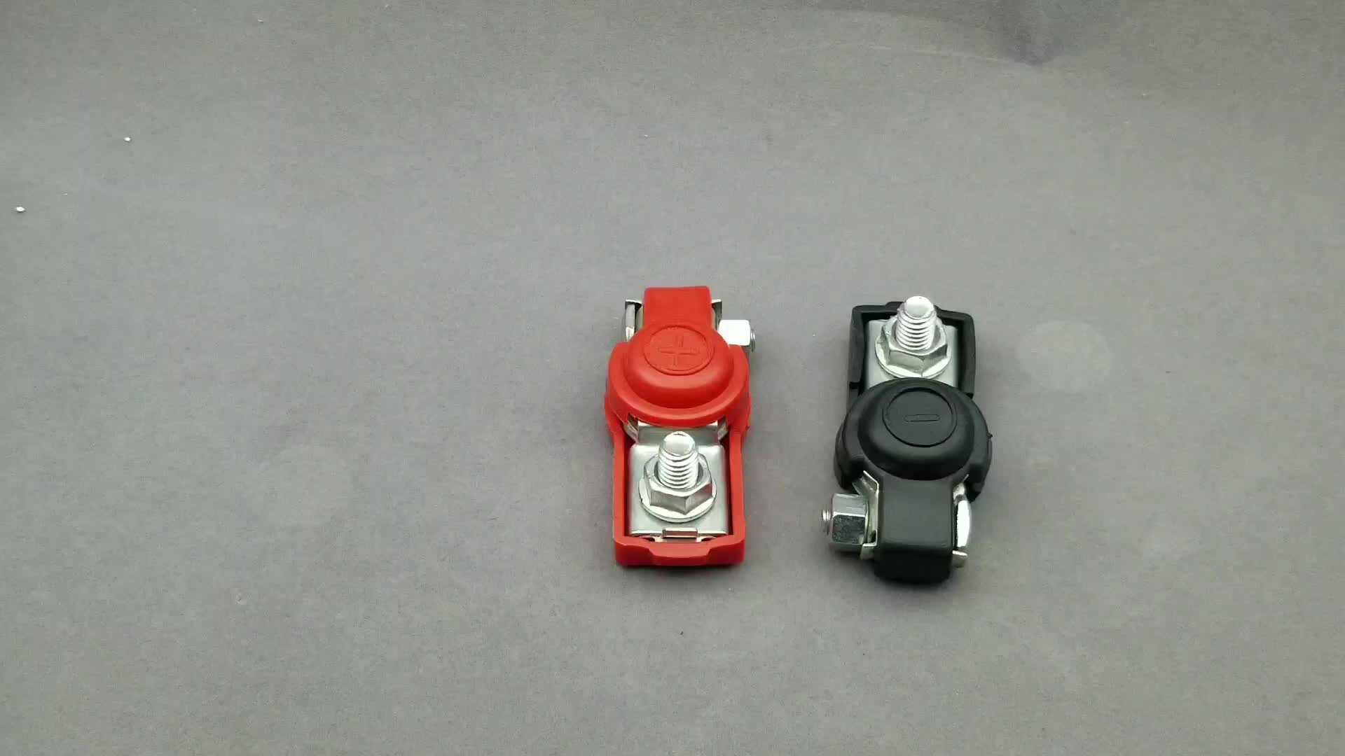 12V brass iron positive and negative car battery terminals clips clamps connectors