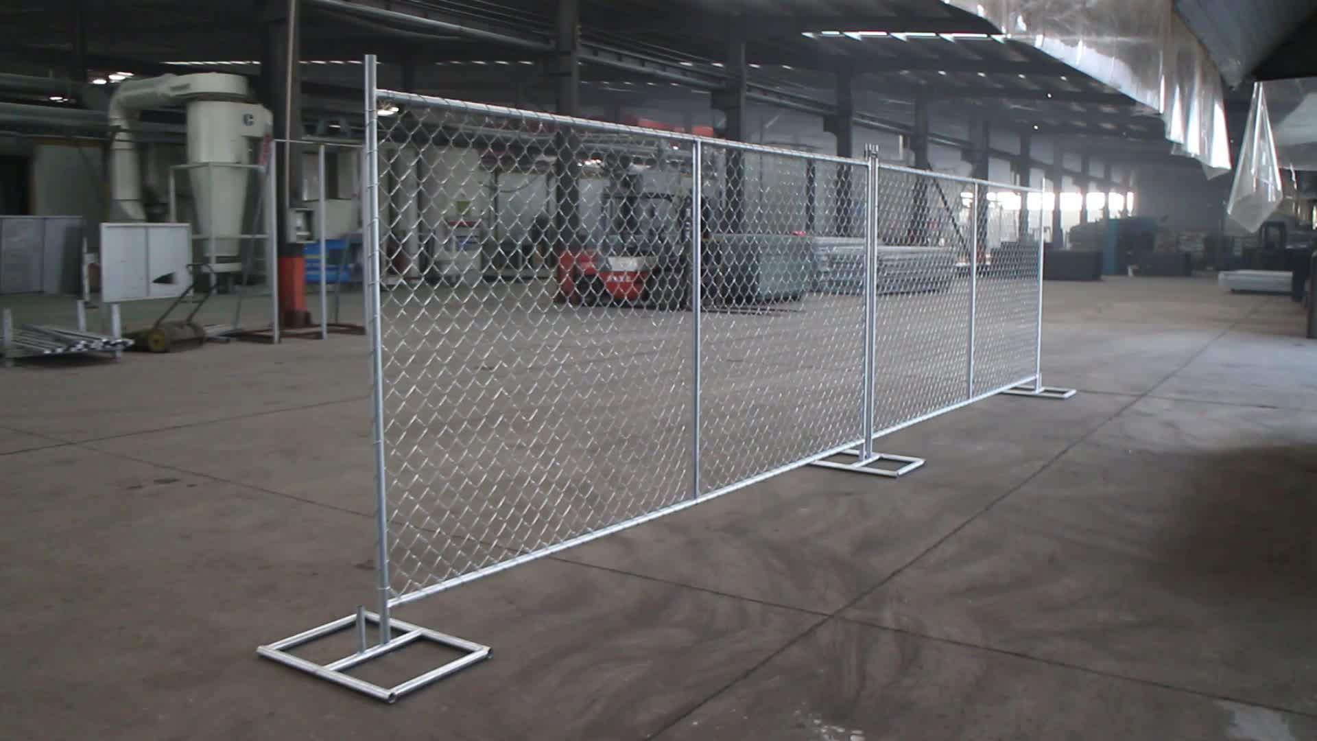Construction Temp Fence Chain Link Temporary Fencing For