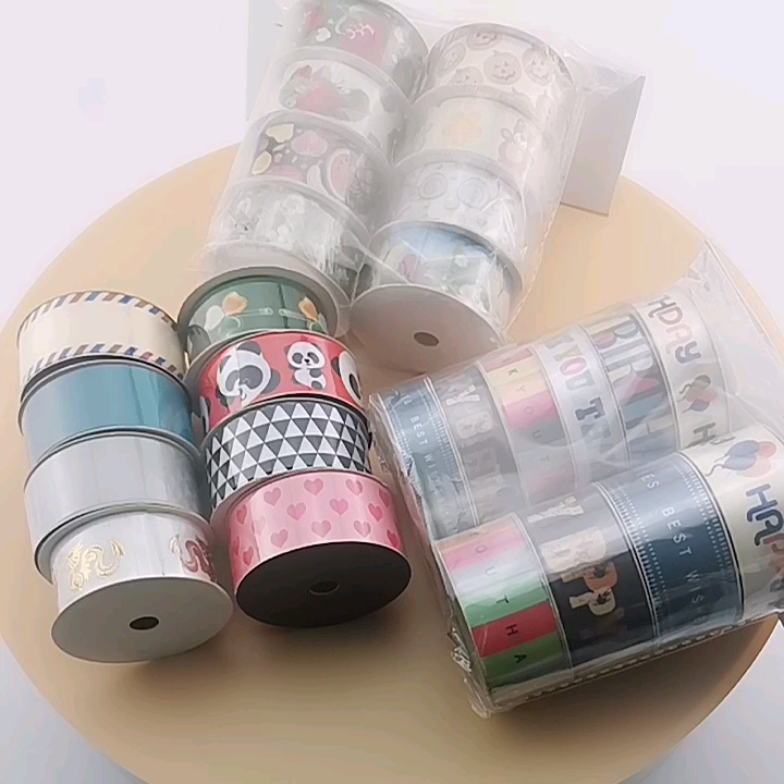 Factory wholesale customized ribbon printing for luxury box decoration / packaging decoration