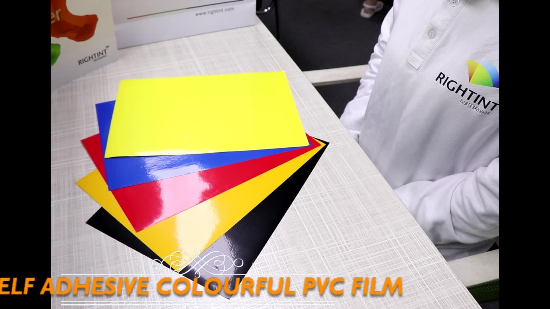 Fiable Qualité Usine Fourniture Directe Couleur Rouleau de Film Auto-Adhésif