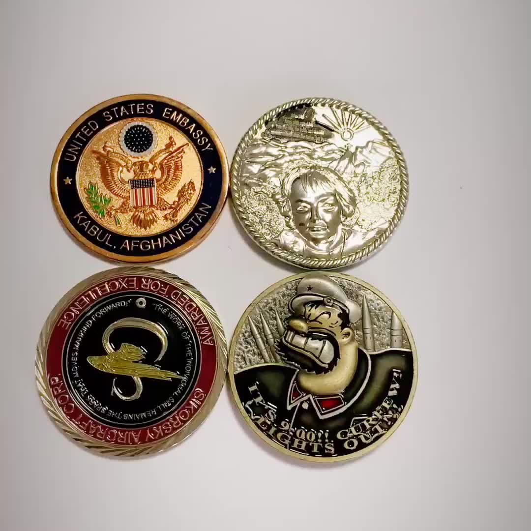 Cheap Custom soft enamel metal challenge coins