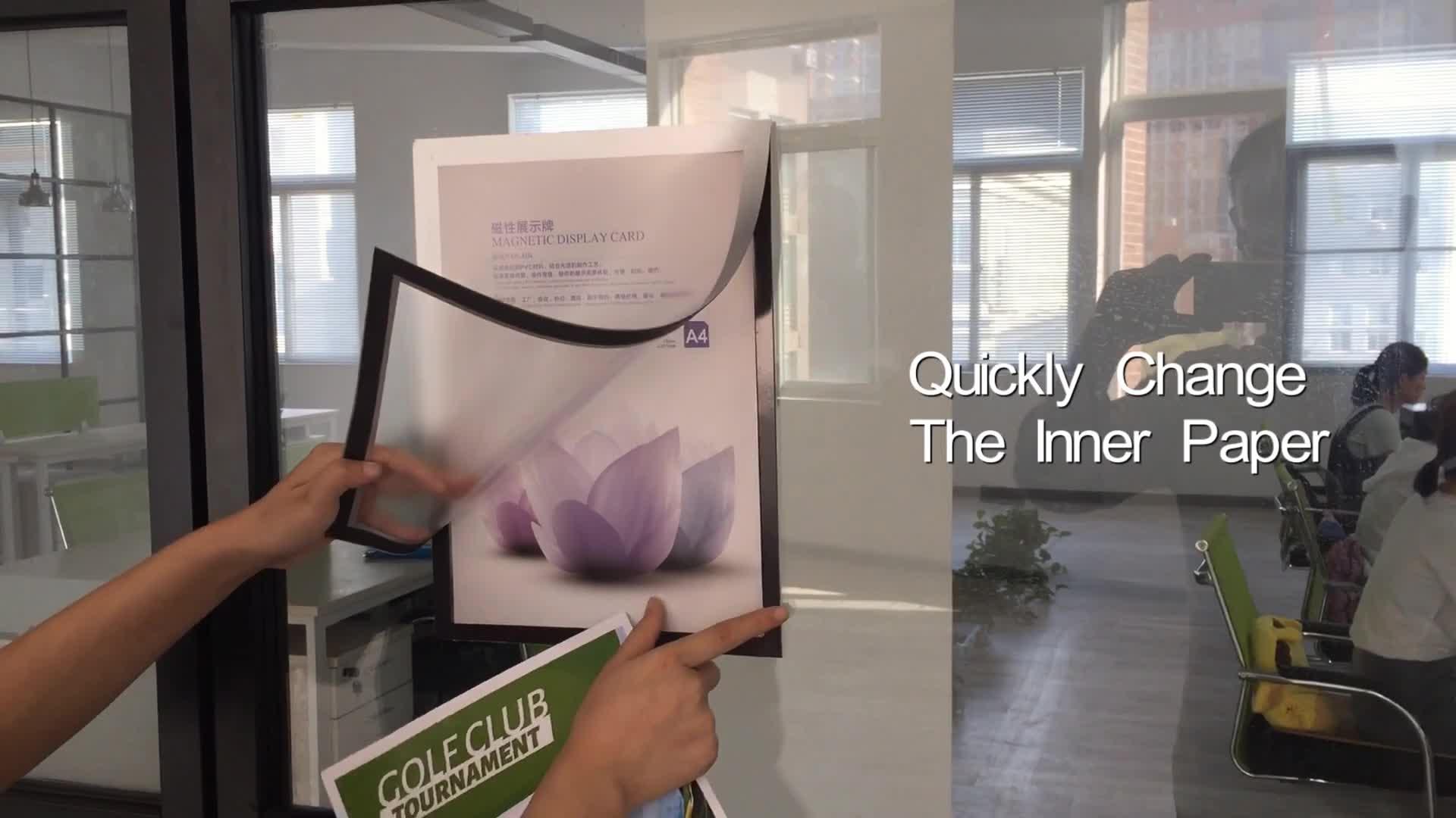 Goedkope Muur Magnetische Plastic A4 Certificaat Display Frame