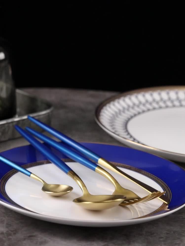 Di alta Qualità caricatore di Moda piatti di Lusso Bone China Piatto di Stoviglie In Ceramica hotel Ristorante tavola di Nozze set