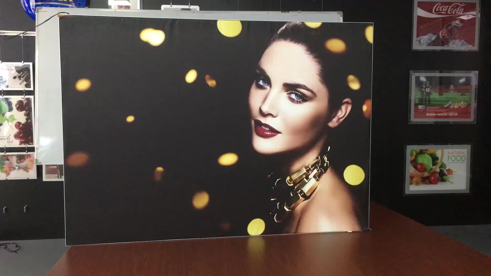 Light box supplier led advertising waterproof fabric frameless menu board outdoor lightbox