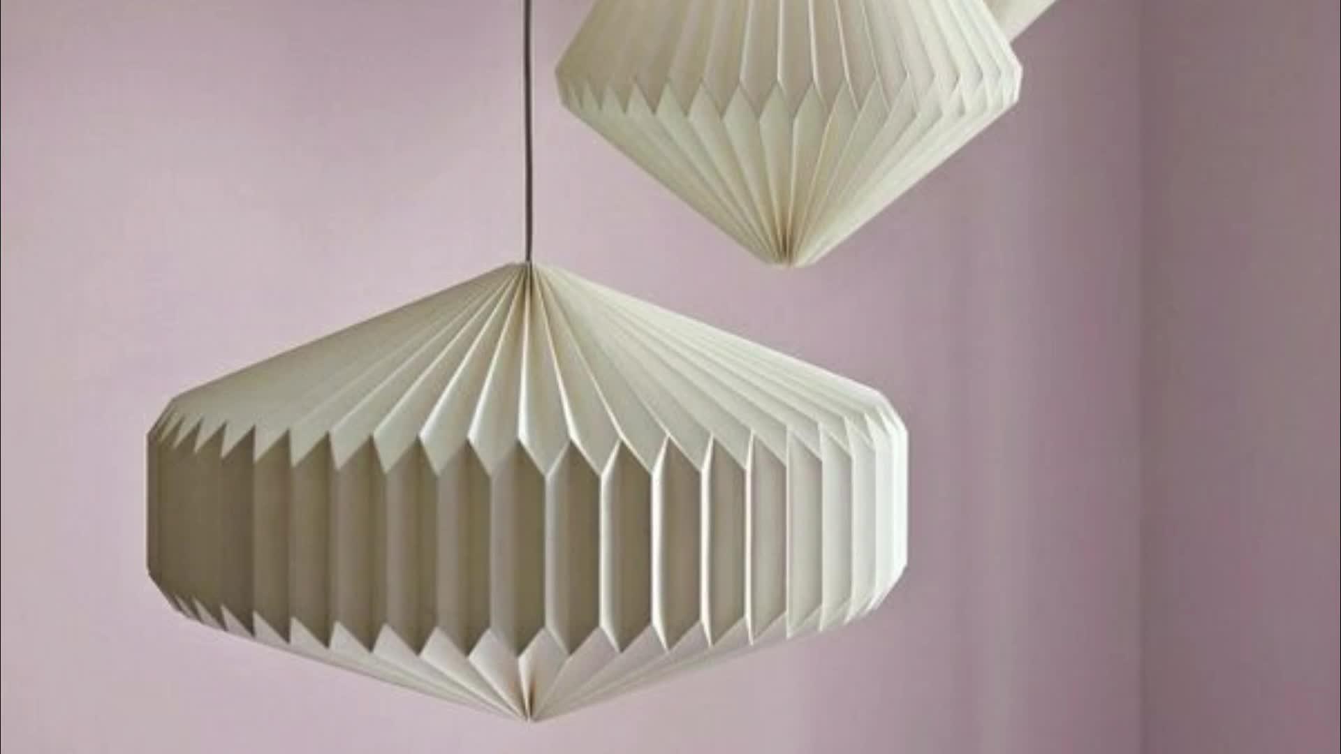 คุณภาพสูง Origami โคมไฟบอลโคมไฟโคมไฟตกแต่งในร่ม