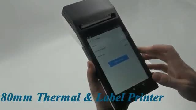 Android 6.0 os 7 inch hand held mobile 80mm printer pos terminal price with free android software