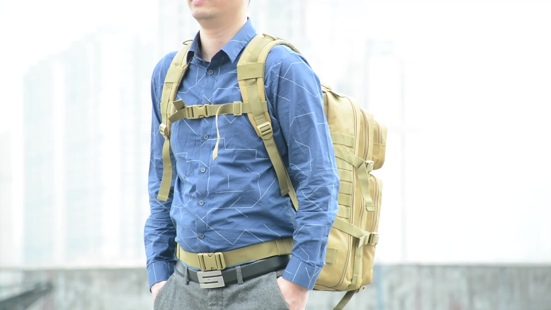 45L Camouflage Oxford Climbing Camping  Travelling Oxford Molle Military Rucksacks Hiking Tactical Backpack