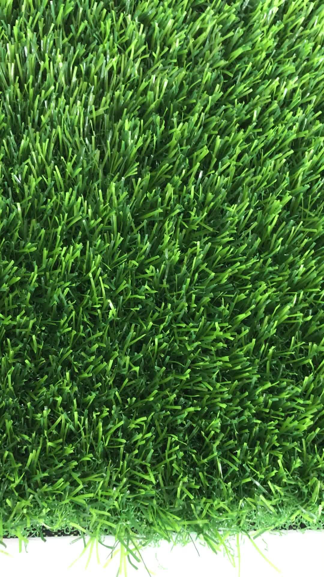 25 millimetri di altezza 14700 densità Tutti di colore verde erba Artificiale tappeto di Paesaggio