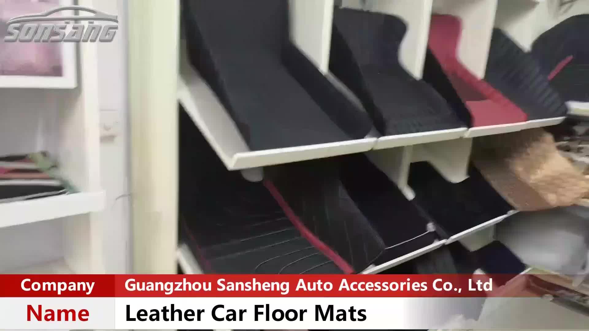 China Manufacturer Unique Cars Accessories Leather Floor Mats Car