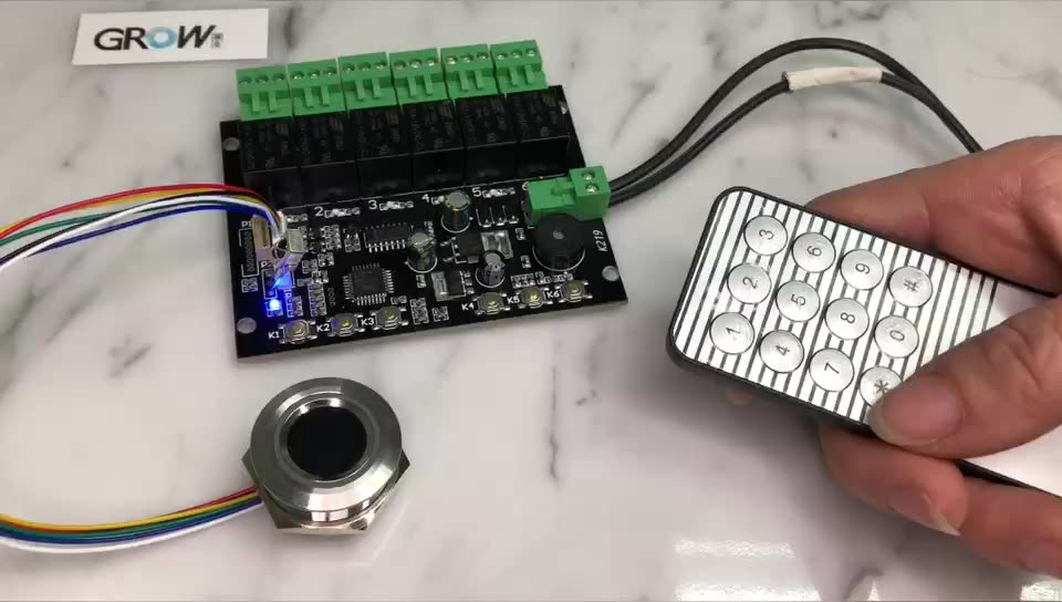 GROW K219-A+R503 Programmable Multiple Relay Fingerprint Infrared Remote Controller Control Board