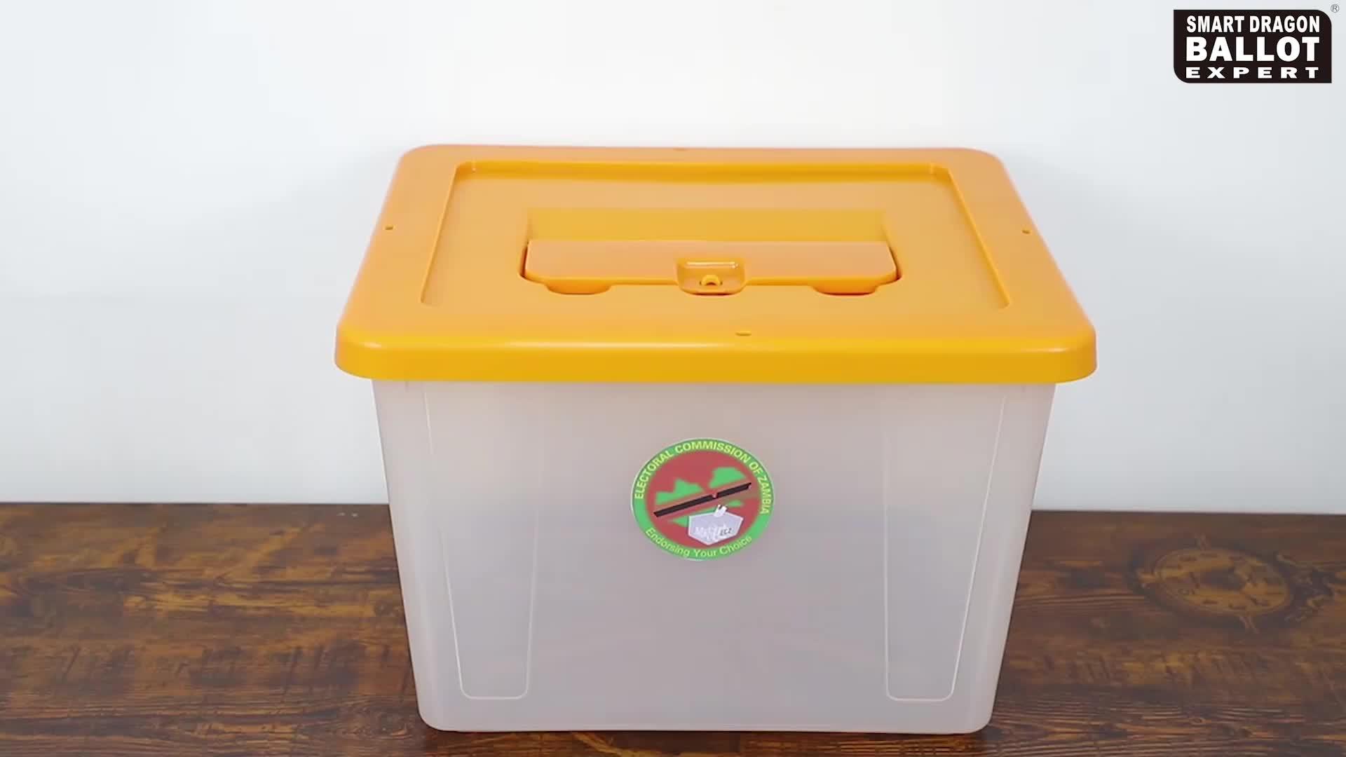 कस्टम लोगो जाम्बिया 40L प्लास्टिक मतदान बॉक्स