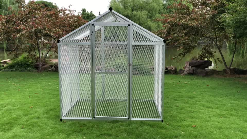 High Quality Outdoor Large Bird Cage With Aluminium Frame Vogelhaus Sangkar Burung Poulailler Oiseaux