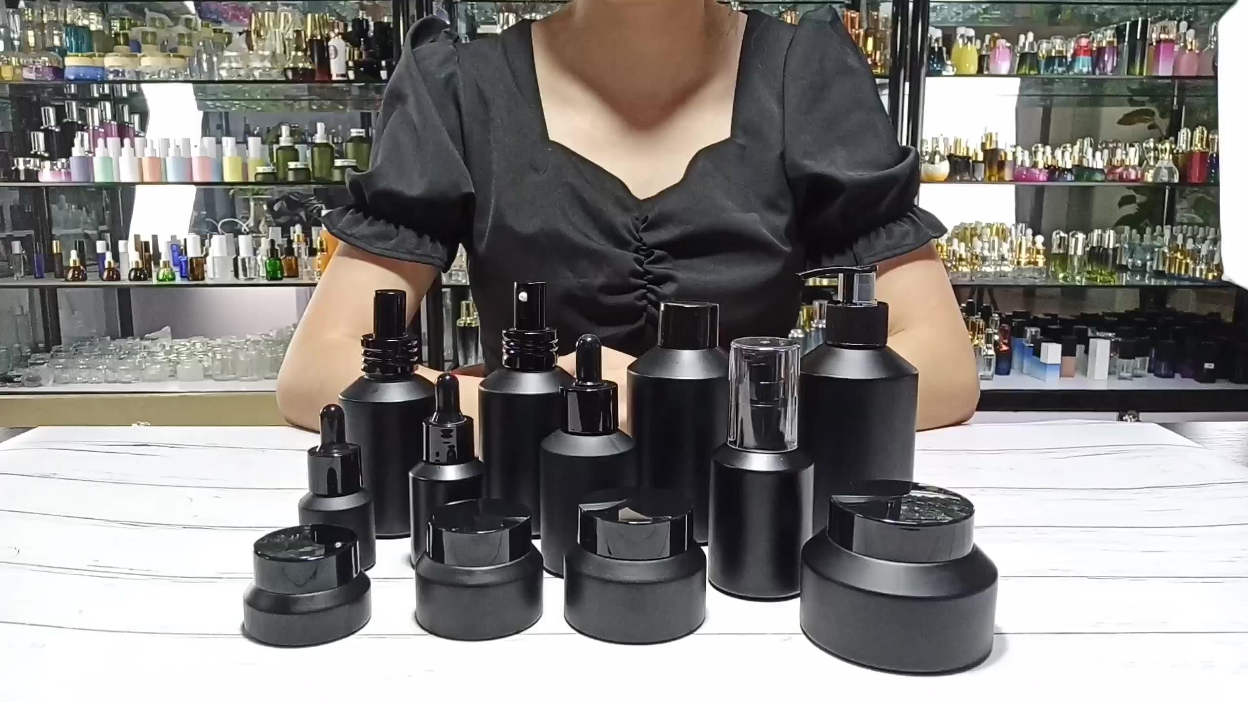 Thiết Kế Độc Đáo Nghiêng Vai Tái Chế Ô Liu Mỹ Phẩm Bán Buôn Glass Chum 15 Gam 30 Gam 50 Gam 100 Gam Chum Glass Với Nắp Đậy
