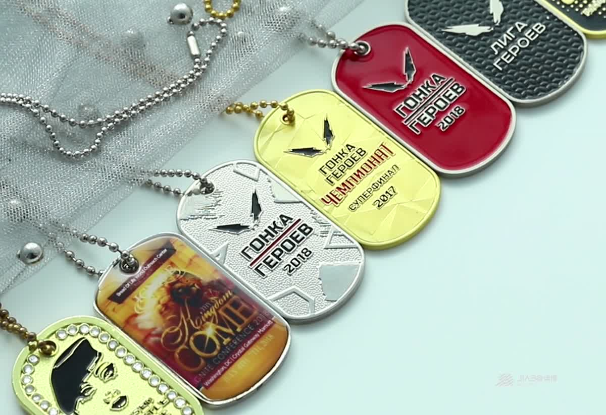 wholesale customized round shape blank metal charm dog tag