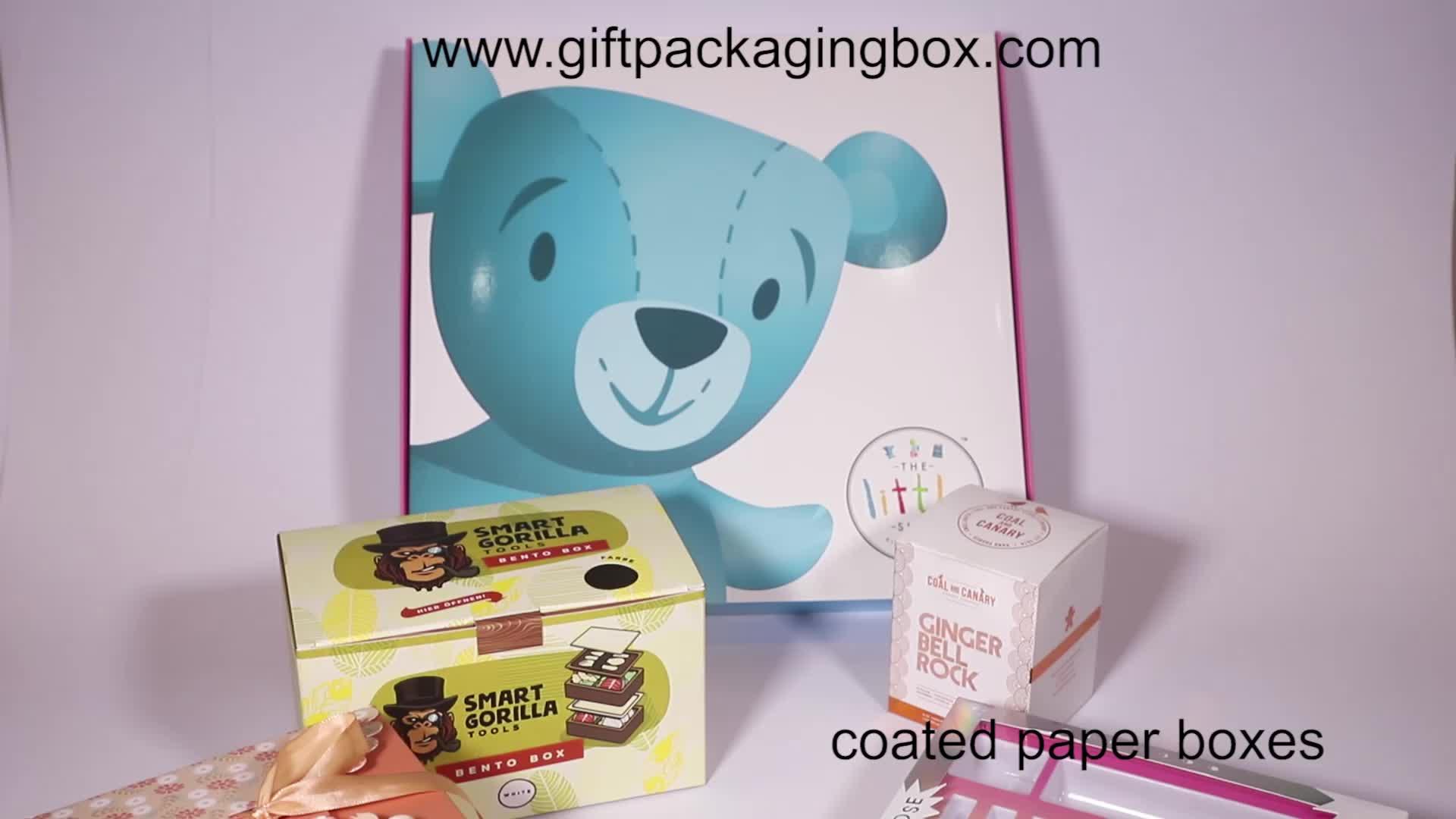 Guangzhou Custom Logo Folding Black Paper Flat Packing Luxury Drawer Gift Box Wholesale