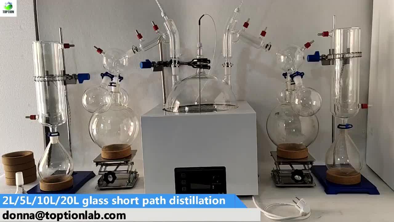 Breve percorso molecolare distillazione piante laboratorio distillare etanolo