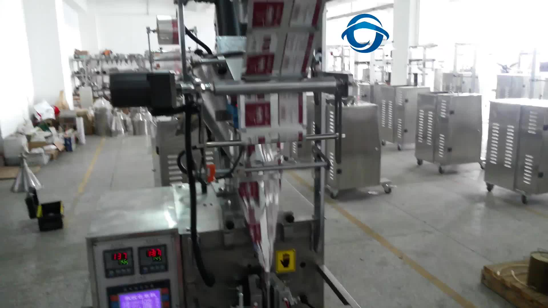 Automatic vanilla powder sachet filling and packaging machine