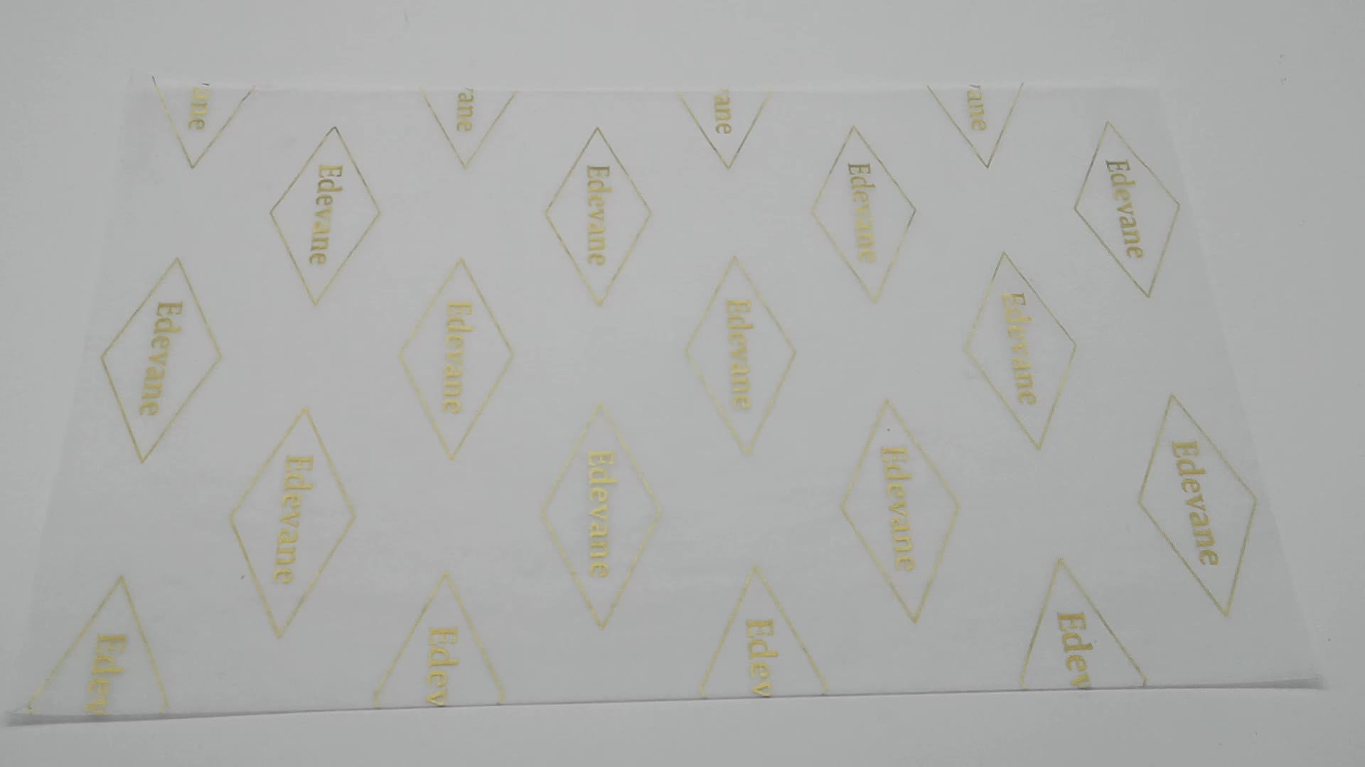 white printing custom logo water proof white wax paper for clothing package