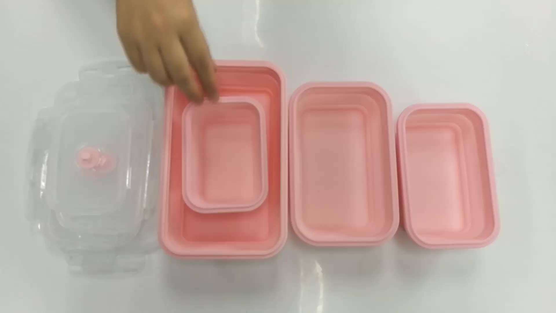 Rodada Caixas de Almoço de Bento Silicone para Cozinha ou Crianças