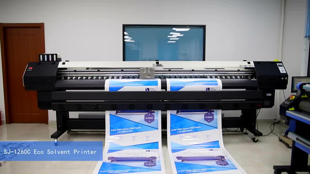 3.2m Large format eco solvent plotter SJ-1260 for Backlit Vinyl