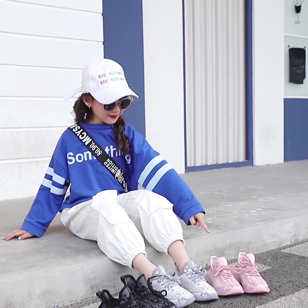 Hot selling kids children child shoes for boys and girls sport shoes